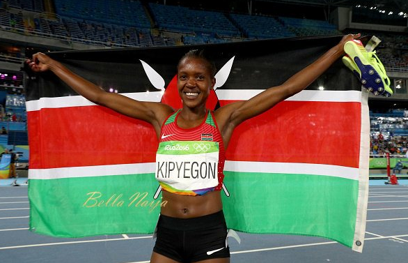 Faith Kipyegon Grabs 3rd Gold for Kenya after winning Women's 1,500m event-#Rio2016