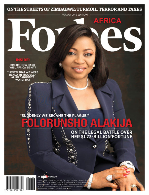 """There were a lot of sleepless nights and battles"" Folorunsho Alakija covers August Edition of Forbes Africa Magazine"