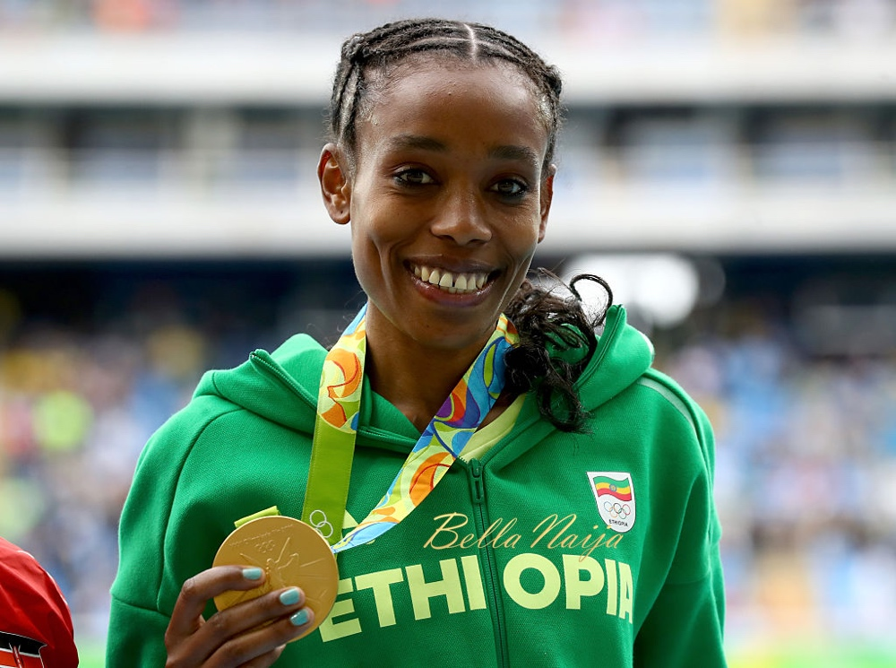 """""""My doping is my training, my doping is Jesus"""" – Ethiopian runner Almaz Ayana says as she breaks 10,000m world record to clinch Gold at #Rio2016"""