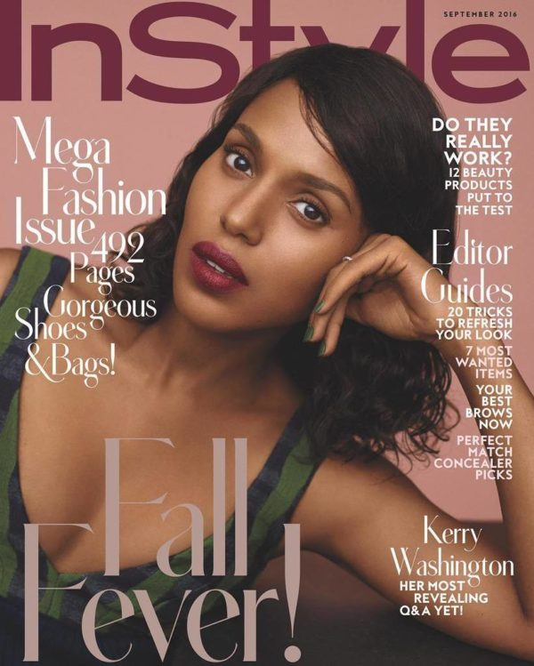 Kerry Washington talks her Second Pregnancy, Social Media Hiatus & More in the September 2016 Issue of InStyle Magazine