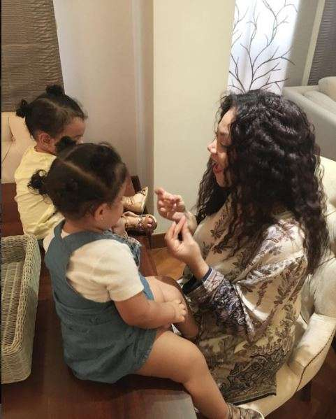 Nadia Buari shares new photos of her twin daughters