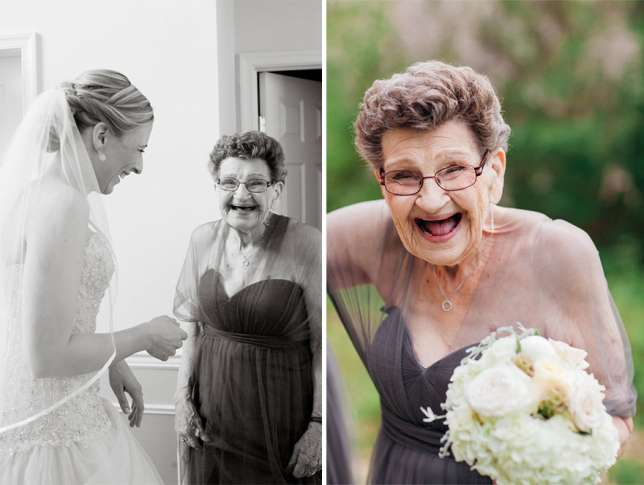 Wow! Bride Invites Her 89-r-old Grandma To Be Her Bridesmaid [PHOTOS]