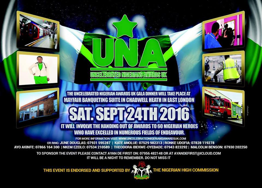 UK diaspora to honour unsung heroes and uncelebrated Nigerians on September 24