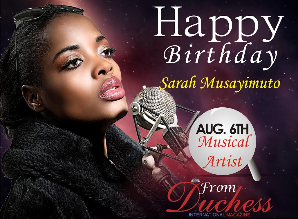 HAPPY BIRTHDAY SARAH NAMAKULA!!!