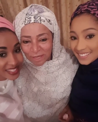 Wow! Beautiful photos of Maryam Abacha and her daughters