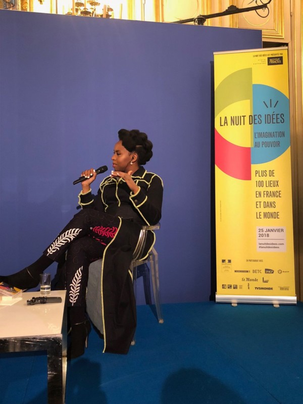Chimamanda Ngozi Adichie talks Immigration, Donald Trump, Nigeria at France's Night of Ideas