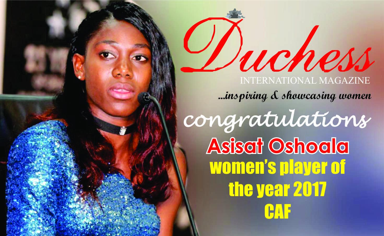 ASISAT OSHOALA WINS AFRICAN WOMEN'S FOOTBALLER OF THE YEAR AWARD
