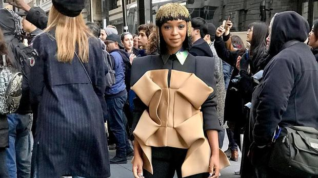 Nandi Madida makes New York Fashion Week debut