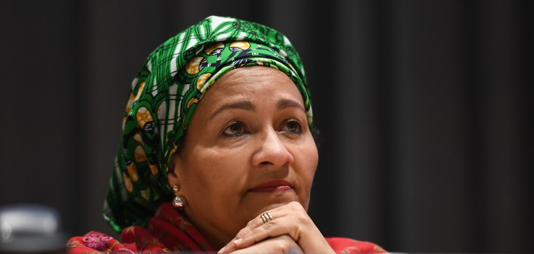 """UNITED NATIONS DEPUTY SECRETARY GENERAL AMINA MOHAMMED: """"YOU CANNOT PUT A BAND-AID ON THE WORLD'S PROBLEMS"""""""