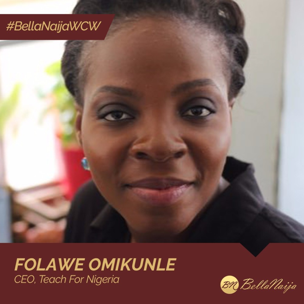 #BellaNaijaWCW Folawe Omikunle of Teach For Nigeria is Helping to Improve Quality of Education in Underserved Communities