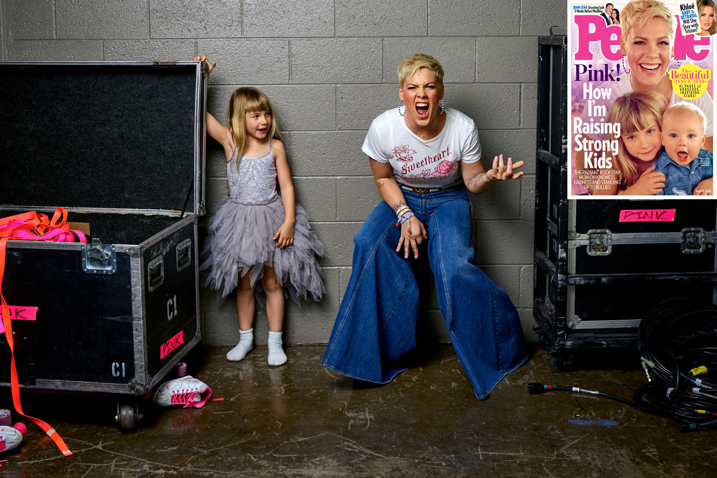 Grammy Winner Pink Graces the Cover of PEOPLE's Beautiful Issue with Her Two Kids