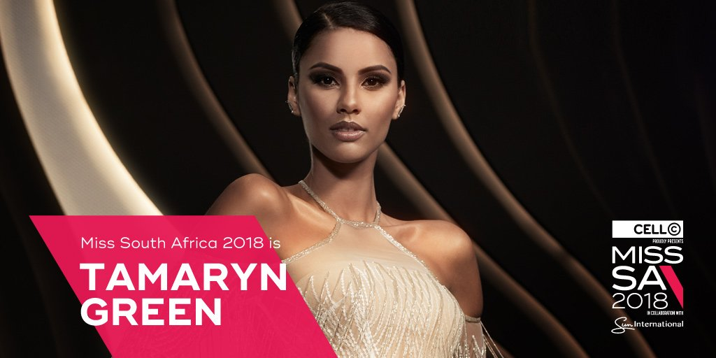 Meet Tamaryn Green, the 23-Year Old who has been crowned Miss South Africa 2018