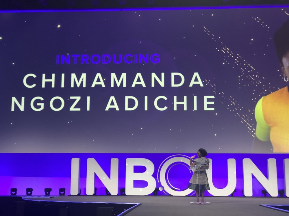 Chimamanda Ngozi Adichie delivers a Keynote Speech at 2018 Inbound Conference in Boston