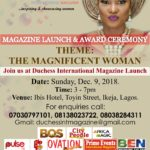 Announcing Duchess International Magazine Print Copy Launch!