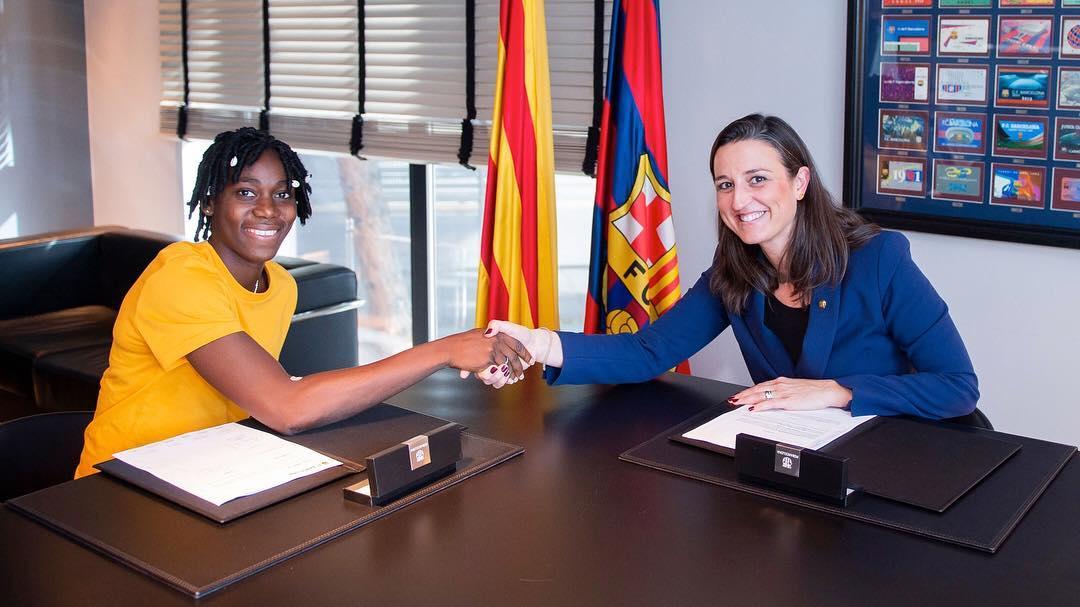 Super Falcons' Asisat Oshoala joins FC Barcelona Femeni
